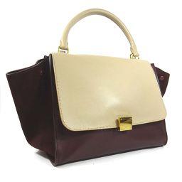 CELINE Celine Trapez 169 543 Handbag leather / suede beige Bordeaux ladies [pre-owned]