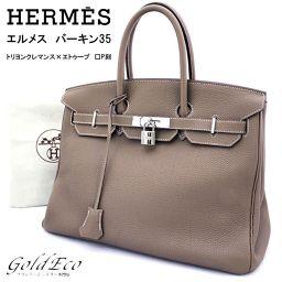 【Free Shipping】 【Goods】 HERMES 【HERMES】】 ー 35 ン 35 ト リ リ ヨ ン ン ク レ レ マ ン ン エ ー ト エ Silver hardware handbag
