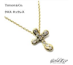 Tiffany&Co【ティファニー】750 K18 ダイヤモンドクロス ネックレス ジュエリーゴールド【新品仕上済み】【中古】