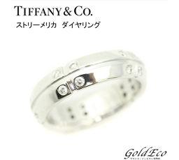 TIFFANY&Co 【ティファニー】 ストリーメリカ ダイヤ リング ホワイトゴールド 指輪 750WG 約6.5号 約4.9g