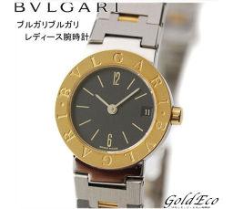 BVLGARI【ブルガリ】ブルガリブルガリ レディース腕時計デイト表示 ブラック文字盤ステンレス×イエローゴールドコンビ シルバー2針 アナログ クォーツ電池式 BB23SGD【中古】