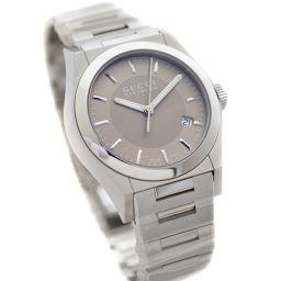 GUCCI グッチ パンテオン YA115424 腕時計 ブラウン文字盤 クオーツ シルバー メンズ【中古】