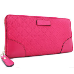 GUCCI Gucci Diamante Round Fastener 354487 Long Purse Leather Pink Ladies [Pre]