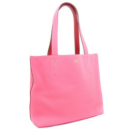 HERMES Hermes Doble Sense 28 Reversible □ O engraved Tote Bag Leather Pink Ladies [pre]