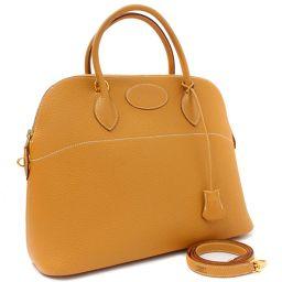 HERMES Hermes 2WAY Bored 37 □ H engraved handbag Ardennes Gold Women [pre]