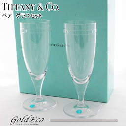 Tiffany & Co [Tiffany] pair logo crystal glass clear wine glass cup cup tumbler tableware beauty products