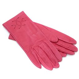 HERMES Hermes gloves lambskin pink ladies [pre-owned]