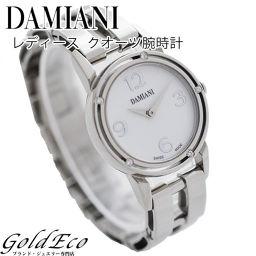 DAMIANI【ダミアーニ】  ブラッドピット D-SIDE 5Pダイヤ 腕時計【中古】 【美品】 クオーツ SS シルバー文字盤