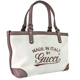 GUCCI Gucci Craft Japan Limited 269878 Tote Bag Canvas / Leather Off White Brown Women [Pre]