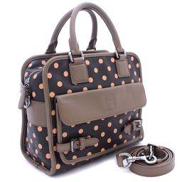 LOEWE Loewe Cruz 2WAY 371.34 AI39 Handbag Calf Black Brown Ladies [Pre]
