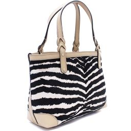 GUCCI Gucci Zebra Pattern 269878 Tote Bag Harako / Leather Beige Black Women [Pre]