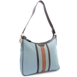 GUCCI Gucci shoulder strap webbing line 264219 shoulder bag nylon blue women [pre]