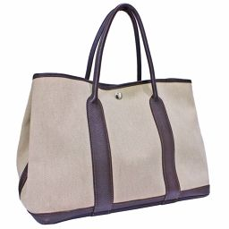 HERMES Hermes Garden Party PM □ O stamped tote bag Towaroso ash beige dark brown ladies [pre-owned]