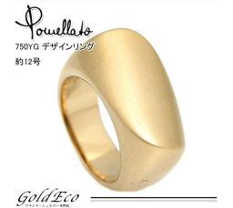 Pomellato【ポメラート】K18 YG デザインリング 約12号 指輪 ジュエリー リング 750 レディース 【中古】