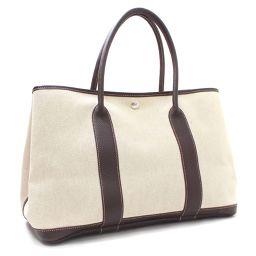HERMES Hermes Garden Party PM □ I stamped tote bag Toruash / leather beige brown women [pre]