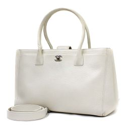 CHANEL Chanel Executive A15206 Tote Bag Caviar Skin White Ladies [Pre]