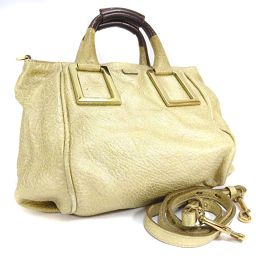 Chloe Chloe 2WAY Ether 3S0645-50 Handbag Leather Gold Womens [pre]