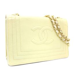 CHANEL Chanel chain coco mark vintage shoulder bag Lizard Ivory Ladies [pre]
