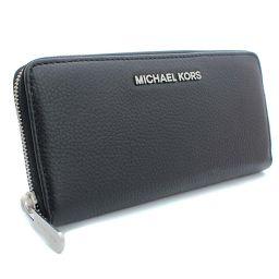 Michael Kors マイケルコース ラウンドファスナー 32H2SBFE1L 長財布 レザー ブラック レディース【中古】