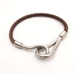 HERMES Hermes Jumbo Bracelet Leather Brown Women [Pre]