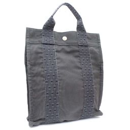 HERMES Hermes AD PM ale line backpack daypack canvas gray ladies [pre-owned]