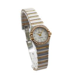 OMEGA オメガ コンステレーション ミニ ダイヤベゼル 1267.75 腕時計 ホワイトシェル文字盤 クオーツ シルバー レディース【中古】