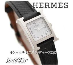 【Super Beautiful】 HERMES 【Hermes】 H Watch Mini Arabian Ladies Watch 【Preowned】 Quartz HH1.110.131 SS