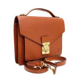LOUIS VUITTON Louis Vuitton Monceau 2WAY shoulder handbag M52123 second bag epi leather Kenya Brown Unisex [pre]