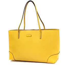 GUCCI Gucci Diaman Terrax 353397 Tote Bag Leather Yellow Ladies [Pre]