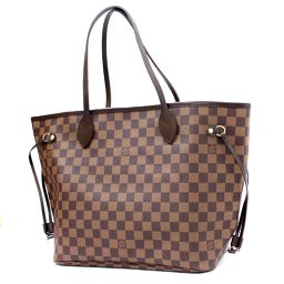 LOUIS VUITTON Louis Vuitton Neverfull MM Damier N51105 Tote Bag Damier Canvas Brown Ladies [Pre]