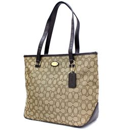 COACH Coach Signature F36185 Tote Bag Canvas / Leather Brown Women [Pre]