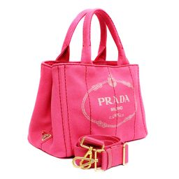 PRADA Prada Kanapa 2 WAY Shoulder 1 BG 439 Tote Bag Canvas Pioneer Pink Women's [pre]