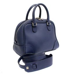 LOEWE Loewe Amasona 75 Small 2 WAY Shoulder 301.30.L01 Handbag Calf Navy / Navy Women's [pre]