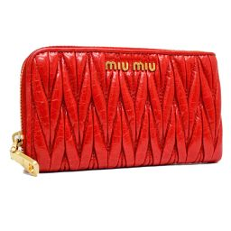 Miu Miu Miu Miu iphone case iPhone case Materasse 5ZH012 coin case leather red ladies [pre]