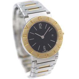 BVLGARI ブルガリ ブルガリブルガリ BB26SGD 腕時計 ブラック文字盤 クオーツ コンビ レディース【中古】