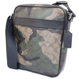 COACH Coach Charles Flight Bag Signature F59913 Shoulder Bag PVC / Leather Black Camouflage Unisex [Pre]