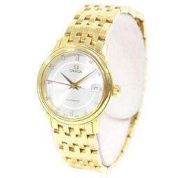 OMEGA オメガ デビル プレステージ 15P 腕時計 シルバー文字盤 自動巻き ゴールド レディース【中古】