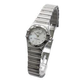 OMEGA オメガ コンステレーション 腕時計 シェル文字盤 クオーツ シルバー レディース【中古】