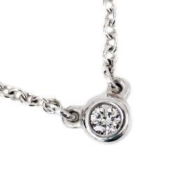 TIFFANY&Co. ティファニー バイザヤード ペンダント ネックレス ダイヤモンド/SV925 アクセサリー シルバー レディース【中古】