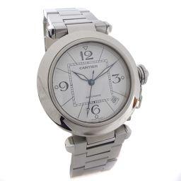 CARTIER カルティエ パシャC ボーイズ 腕時計 ホワイト文字盤 自動巻き シルバー ユニセックス【中古】