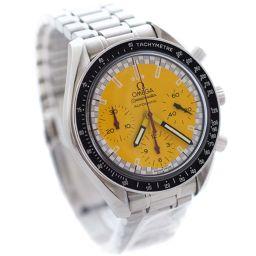 OMEGA オメガ スピードマスター シューマッハ 3510.12 腕時計 イエロー文字盤 自動巻き シルバー メンズ【中古】