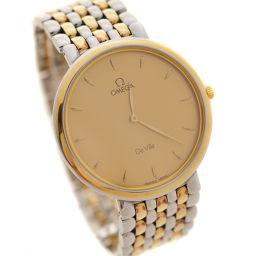 OMEGA オメガ De Ville デビル  コンビ 腕時計 ゴールド文字盤 クオーツ シルバー ゴールド メンズ【中古】