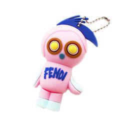 FENDI フェンディ フェンディルミ USB メモリ4GB 付き キーホルダー PC周辺機器 シリコン ピンク ユニセックス【中古】