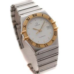 OMEGA オメガ コンステレーション コンビ Ref. 1410.20 腕時計 ホワイト文字盤 クオーツ シルバー ゴールド メンズ【中古】
