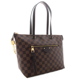 LOUIS VUITTON Louis Vuitton Shoulder Bag Damier N41012 Tote Bag Damier Canvas / Leather Ebene Brown Women [Pre]