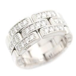 CARTIER カルティエ パンテール ハーフ リング・指輪 K18ホワイトゴールド/ダイヤモンド ジュエリー 6.5号 シルバー レディース【中古】