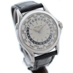 PATEK PHILIPPE パテックフィリップ ワールドタイム 5110G-001 腕時計 自動巻き ホワイトゴールド シルバー メンズ【中古】