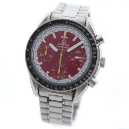 OMEGA Omega Speedmaster Schumacher Model 3510.61 Watch Red Dial Automatic Silver Men [pre]