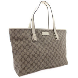 GUCCI Gucci shoulder bag GG Supreme 211137 Tote bag PVC / Leather Beige Ivory Ladies [pre-owned]