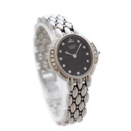 SEIKO セイコー セラフィーノ クレドール 2J80-5030 腕時計 ブラック文字盤 クオーツ シルバー レディース【中古】
